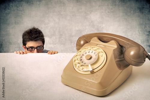 Vászonkép Fear of the phone