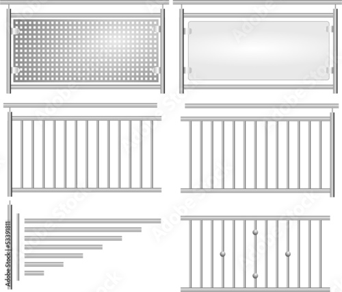 Canvas Print Geländer V2a Bausatz Set