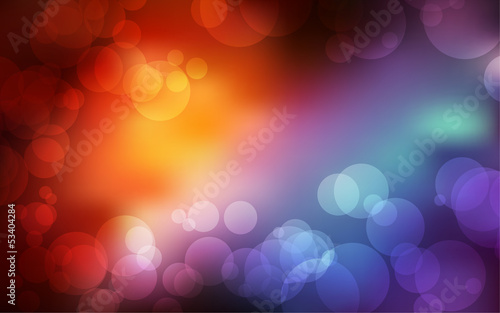 bokeh background with space for your text