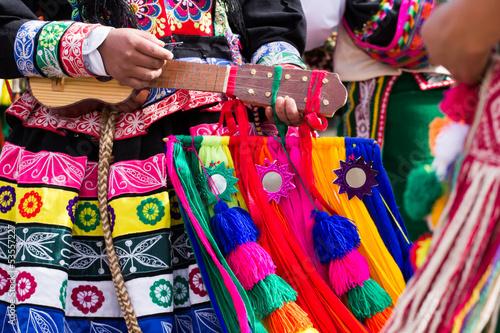 Fotografie, Obraz Peruánské tanečníků v přehlídce v Cusco.
