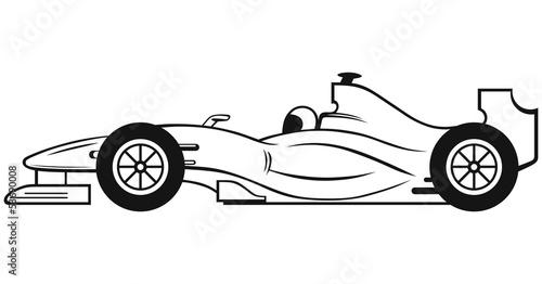 Fototapeta premium Samochód wyścigowy Formuły 1 na białym tle