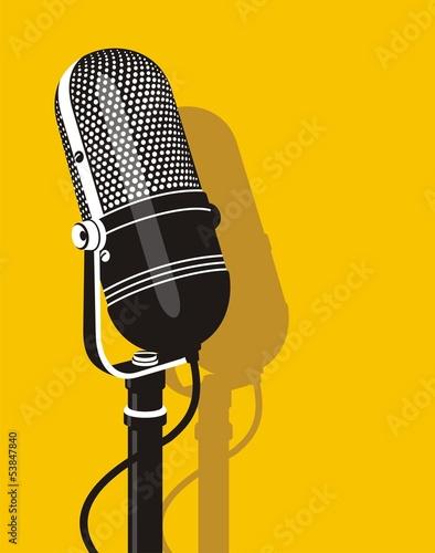 Obraz na płótnie Old microphone