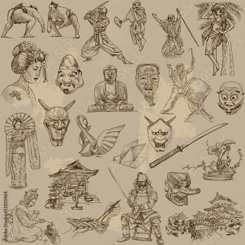Japan - Hand drawn illustrations converted into vectors