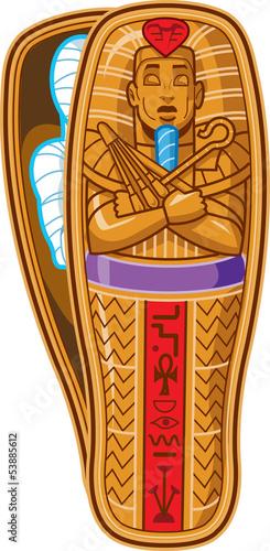 Wallpaper Mural Mummy Sarcophagus