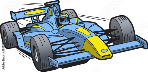 Платно Speeding Race Car