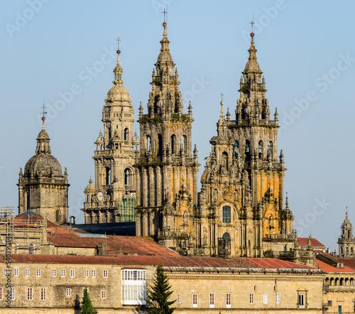 Fotografia Fachada de la catedral de Santiago de Compostela