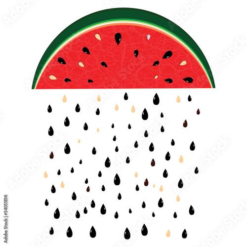 deszcz arbuza