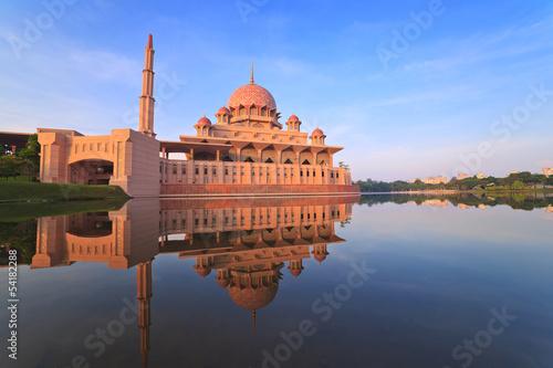 Putra Mosque located in Putrajaya of Malaysia