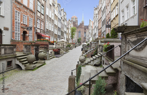 Mariacka Street in the Old Town of Gdansk, Poland #54388257