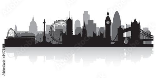 Wallpaper Mural London city skyline silhouette