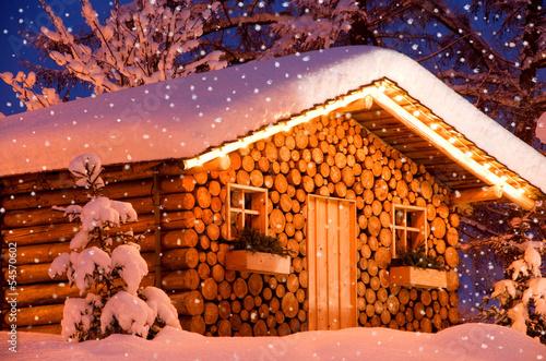 christmas hut snow #54570602