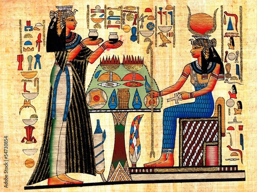 Fotografia, Obraz Scene from afterlife ceremony painted on papyrus