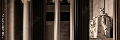 Canvas Print The Lincoln memorial