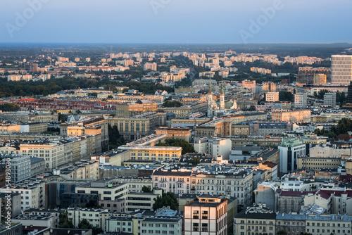 Panorama of Warsaw city, Poland #54893030