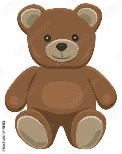 Teddy bear sitting #54918482