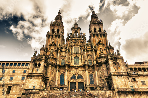 Photo cathedral in Santiago Compostela, Spain