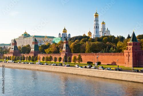 Obraz na plátně Kremlin view from Moscova, Moscow