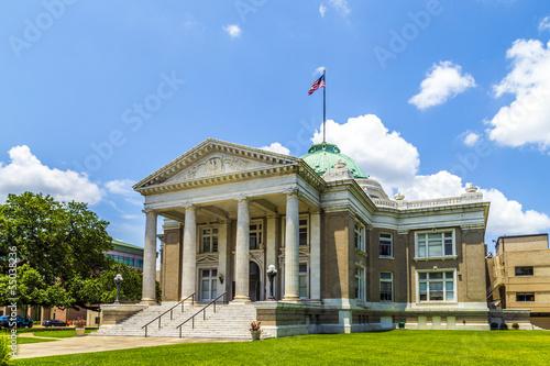 Vászonkép famous historic city hall in Lake Charles