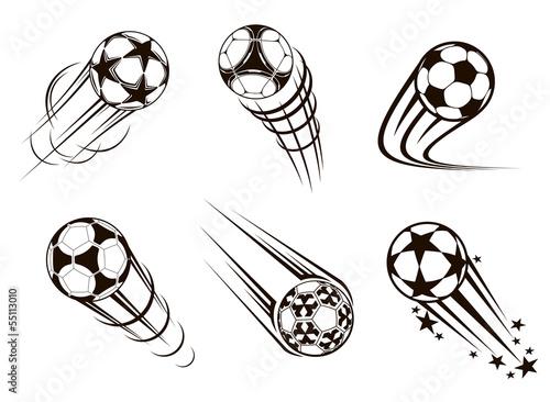 Canvas Print Soccer and football emblems