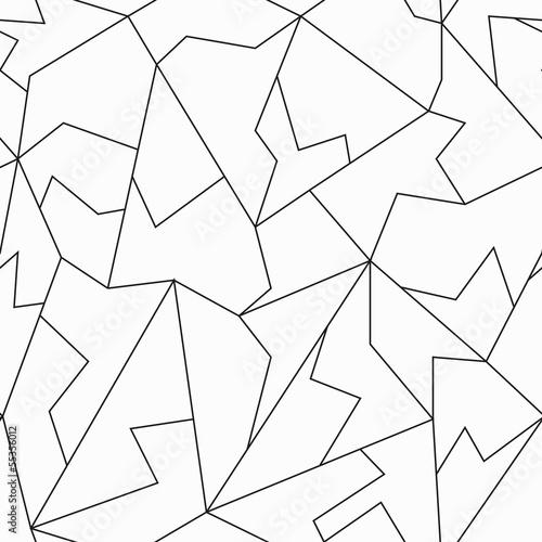 monochrome mosaic seamless pattern