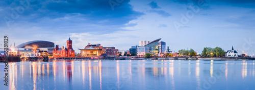 Canvas Print Cardiff Bay Cityscape
