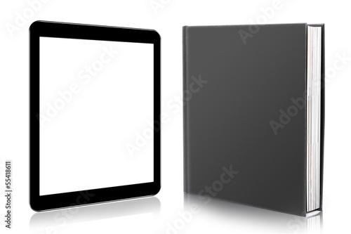 Stampa su Tela e-book reader. book and digital tablet