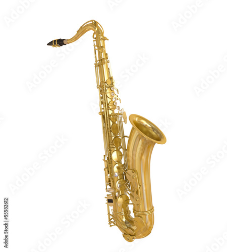 Fotografia Saxophone Isolated