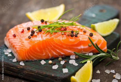 Stampa su Tela Fresh salmon