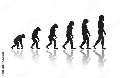 Obraz na plátne Evolution of human high resolution