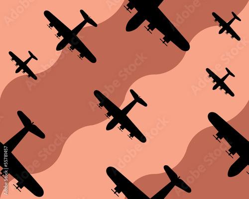 Fényképezés old bomber background, seamless pattern