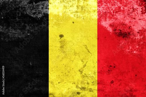 Grunge Belgium Flag #56034419
