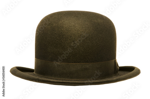 Stampa su Tela A Black Derby or Bowler Hat