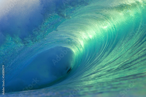 Canvas Print Hawaii Pipeline Empty Wave 4
