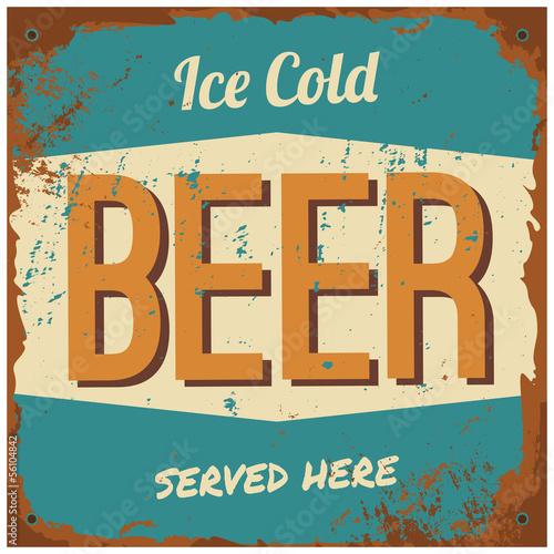 Wallpaper Mural Beer Metal Sign