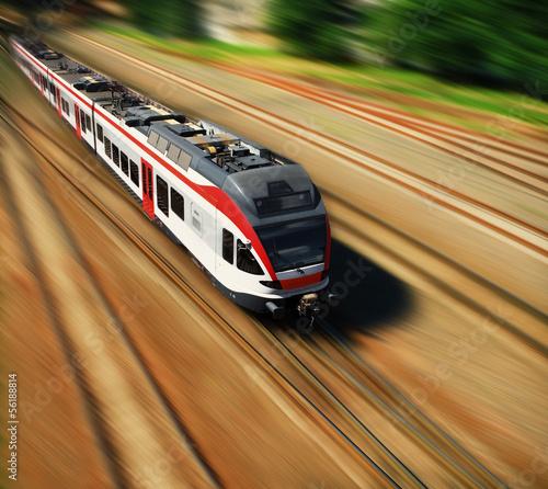 Fototapeta premium pociąg ekspresowy
