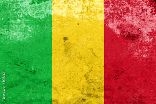 Grunge Mali Flag #56195634