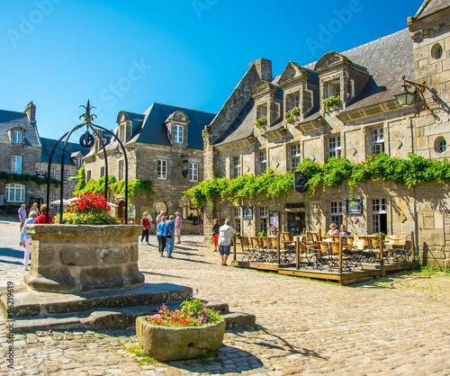 Fotografering Village en Bretagne, Locronan
