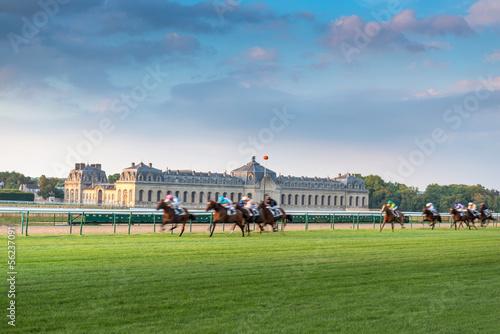 Carta da parati Horserace in Chantilly