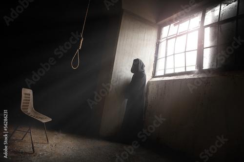 The Reaper Waiting and a Hangman Noose Fototapeta