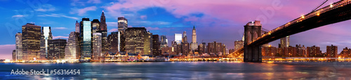 Manhattan over the river early morning #56316454