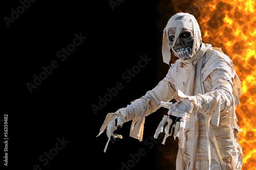 Tableau sur Toile Mummy in an halloween night