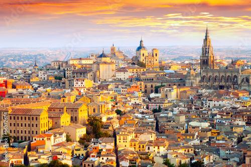 Dawn view of Toledo