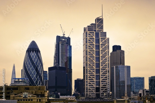 London City Landscape, UK. Concept for finance, work, investment, inflation, energy and price rise. #56454833
