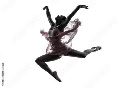Canvas Print woman  ballerina ballet dancer dancing silhouette