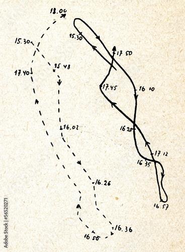 Battle of Jutland (1; unbroken line-Hipper, broken-Beatty) Fotobehang