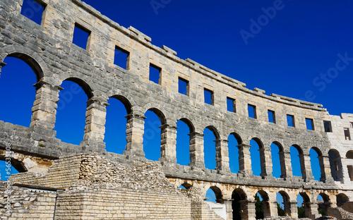 Canvas Print the old amphitheatre in Pula - Croatia