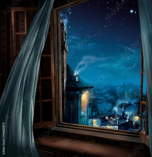 Fototapeta Magiczne okno - grafika/ilustracja dla dzieci