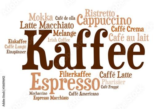 Wordcloud - Kaffezubereitungen