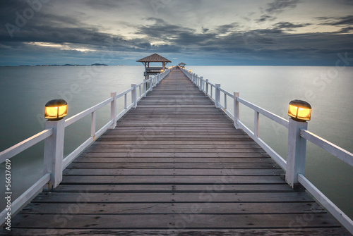 Wooded bridge