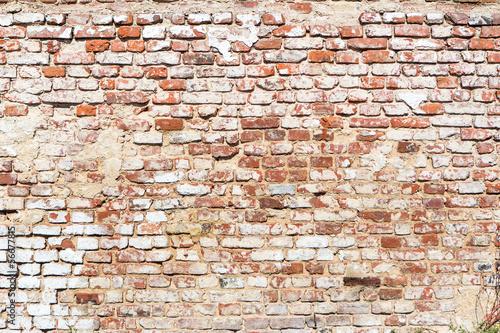 mur z cegły w stylu vintage